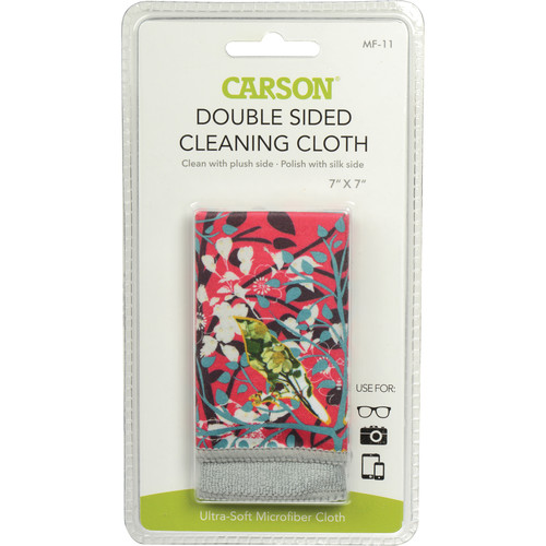 """Carson Double-Sided Cleaning Cloth - 7 x 7"""" (Wild Flower)"""