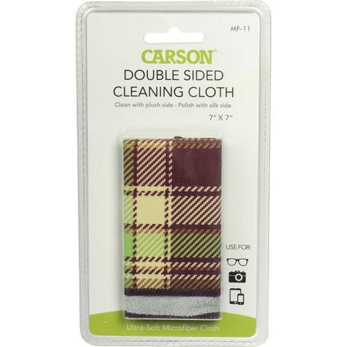 "Carson Double Sided Cleaning Cloth - 7 x 7"" (Vintage Plaid)"
