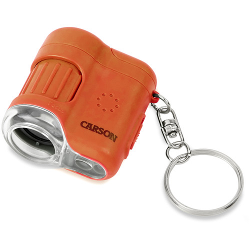 Carson MicroMini 20x Pocket Microscope (Lava Orange)