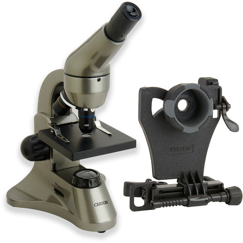 Carson MS-040 Biological Microscope & Universal Adapter for Smartphones Kit