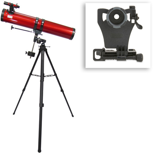Carson RP-300SP Red Planet 114mm f/8 Reflector EQ Telescope