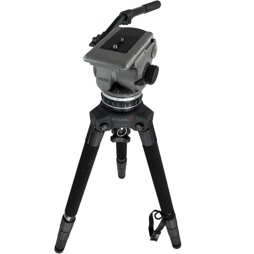 Cartoni D600 Delta Fluid Head & STABILO Tripod Legs with Bag