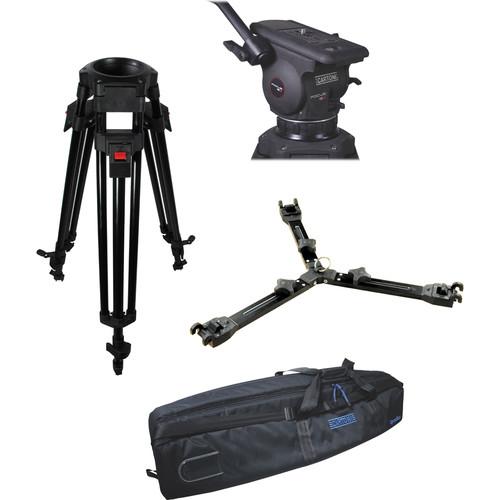 Cartoni Focus 12 Fluid Head with A627 Tripod Legs & Mid-Spreader (100mm)