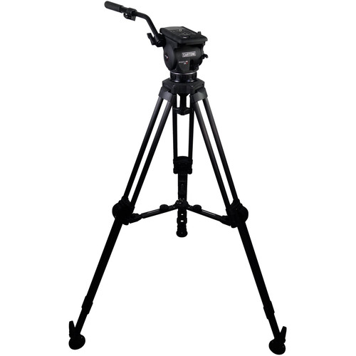 Cartoni Focus 12 Fluid Head with L507 Tripod Legs & Mid-Spreader (100mm)