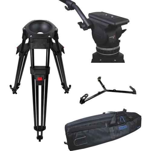 Cartoni Focus 18 Fluid Head with L501 Tripod Legs & Ground Spreader (100mm)