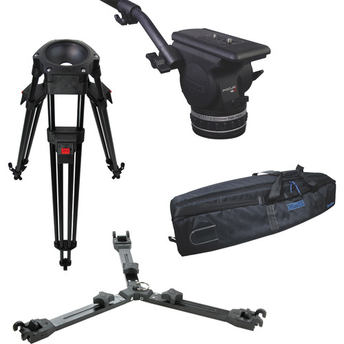 Cartoni Focus 18 Fluid Head with L501 Tripod Legs & Mid-Spreader (100mm)
