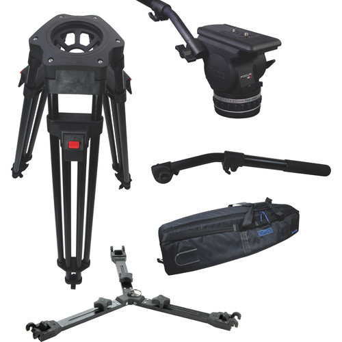 Cartoni Focus 18 Fluid Head with H601 Tripod Legs, Mid-Spreader and 2nd Pan Bar (100mm)