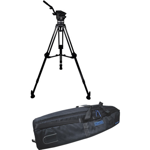 Cartoni Focus 18 Fluid Head with L502 Tripod Legs & Mid-Spreader (100mm)