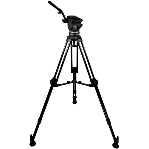 Cartoni Focus 18 Fluid Head with L506 Tripod Legs & Mid-Spreader (100mm)