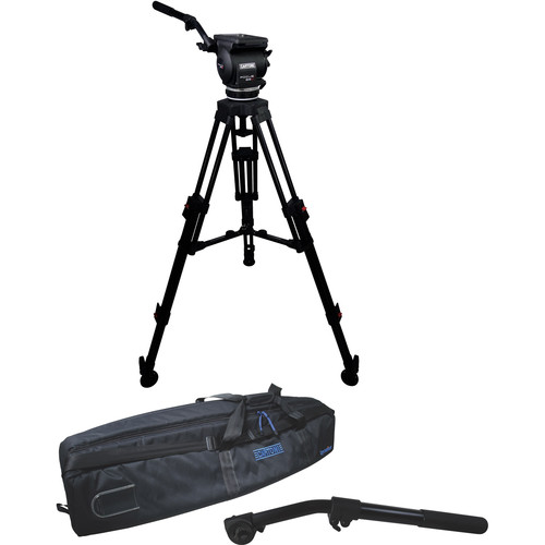 Cartoni Focus 22 Fluid Head with H602 Tripod Legs, Mid Spreader and 2nd Pan Bar (100mm)