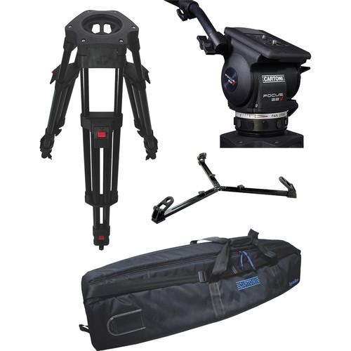 Cartoni Focus 22 Fluid Head with H604 Tripod Legs & Ground Spreader (100mm)