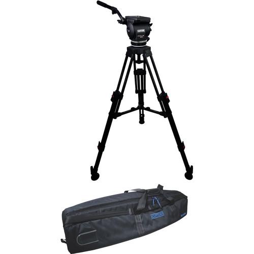 Cartoni Focus 22 Fluid Head with H604 Tripod Legs & Mid-Spreader (100mm)