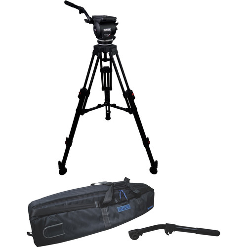 Cartoni Focus 22 Fluid Head with H604 Tripod Legs, Mid-Spreader and 2nd Pan Bar (100mm)