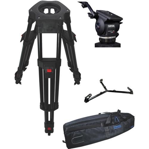 Cartoni Focus 22 Fluid Head with H602 Tripod Legs & Ground Spreader (100mm)