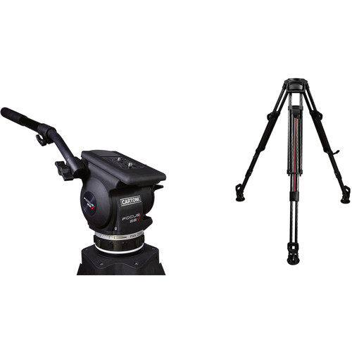 Cartoni Focus 22 Fluid Head & T628 2-Stage Smart-Stop Aluminum Tripod System
