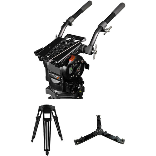 Cartoni Master 40 Fluid Head & 1-Stage Aluminum Mitchell Flat Base Tripod with Mid-Level Spreader