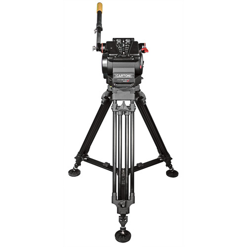 Cartoni Master 65 Head with Superpod Tripod Legs and Mid-Level Spreader