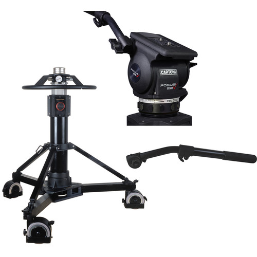 Cartoni P50 Pedestal with Focus 22 Fluid Head