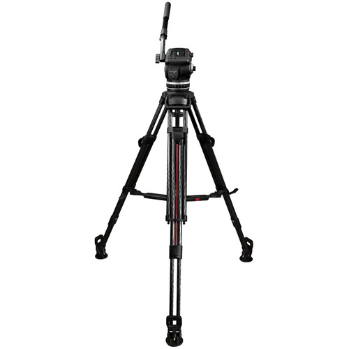 Cartoni Focus 18 Tripod System with 2-Stage Carbon Fiber Legs, Mid-Level Spreader, and Bag