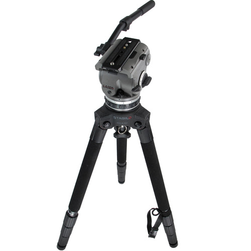 Cartoni Z100 Laser ENG Fluid Head & STABILO Tripod Legs with Bag