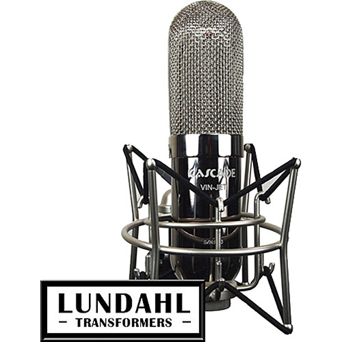 Cascade Microphones VIN-JET Long Ribbon Microphone (Chrome Body and Nickel Grill, Lundahl LL2913 Transformer)