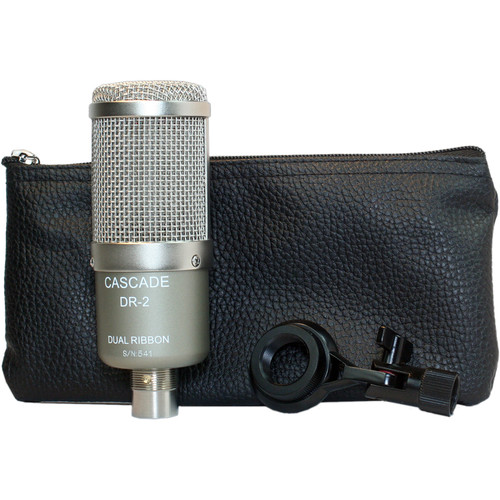 Cascade Microphones DR-2 Dual-Ribbon Microphone with Leatherette Pouch (Gray)