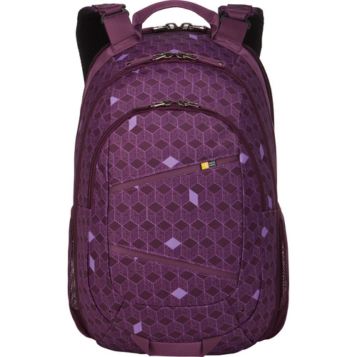 "Case Logic Berkeley II Backpack for Tablet and 15.6"" Laptop (Purple Cubes)"
