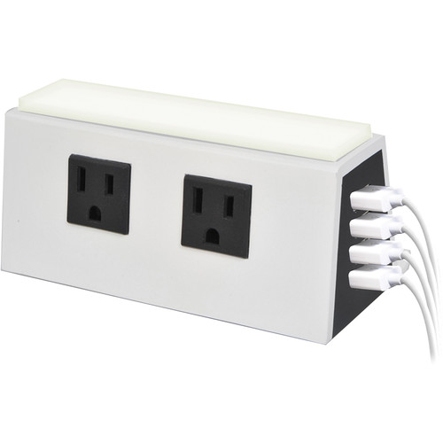 Case Logic 5.1A Four-Port USB Charging Station & Power Outlet (White)