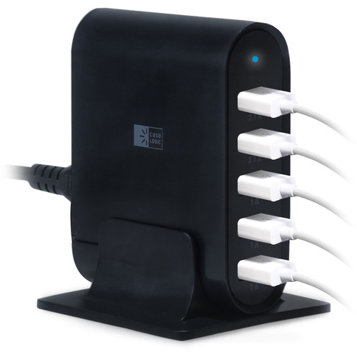 Case Logic 7.1A Five-Port USB Charging Station (Black)