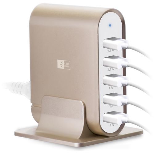 Case Logic 7.1A Five-Port USB Charging Station (Gold)