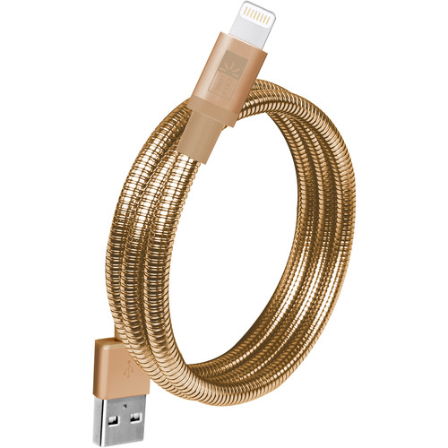 Case Logic Lightning MFI USB Spiral Cable (3.5', Gold)
