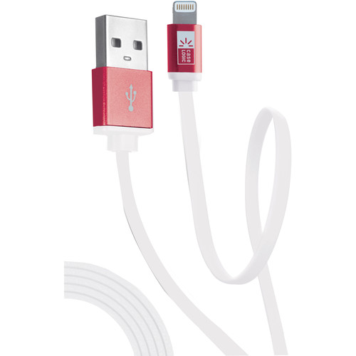 Case Logic Flat Charge and Sync Lightning Cable (3.5', Assorted Female Colors)