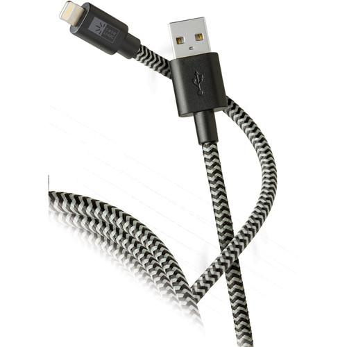 Case Logic Lightning MFI USB Rope Cable (10', Black/Gray)