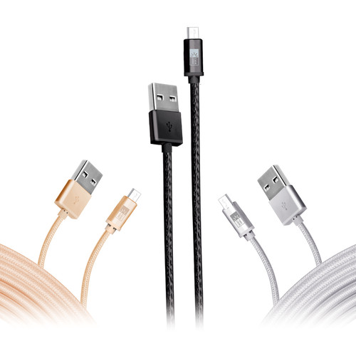 Case Logic 3Pk 10' Micro Cable Fabric-Ac
