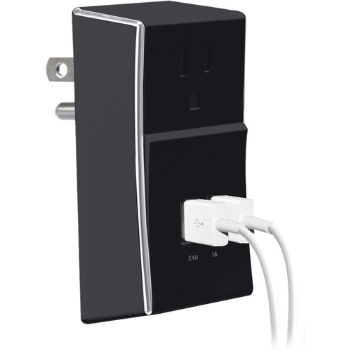 Case Logic Dual-USB Wall Plate Charger (2.4A, Black)
