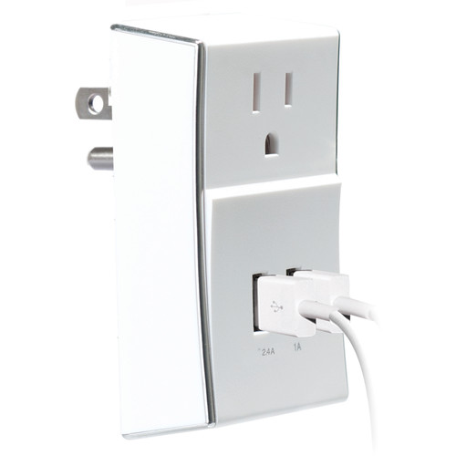 Case Logic Dual-USB Wall Plate Charger (White)
