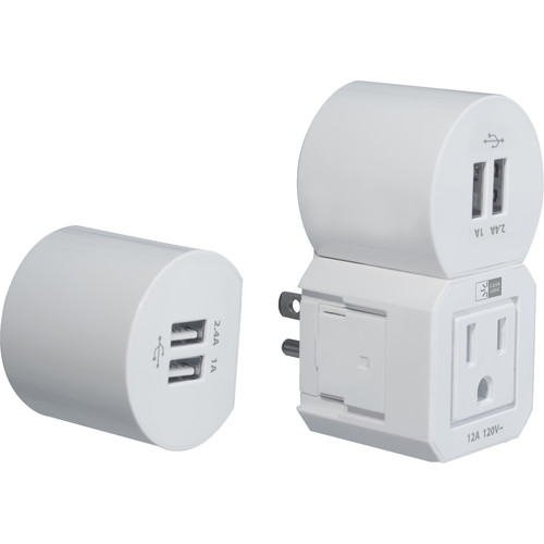 Case Logic 4.8A Modular Wall Charger with AC Outlet & 4 USB Type-A Ports (White)