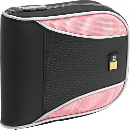 Case Logic 32-Disc CD Wallet (Black / Pink)