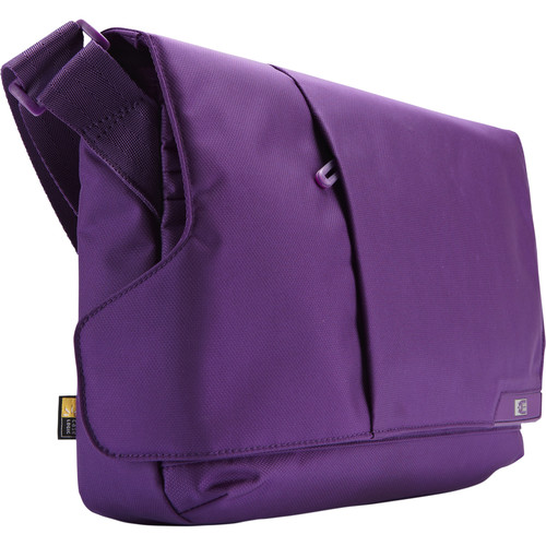 "Case Logic Messenger Bag for iPad and 11.6"" Laptop/Chromebook (Gotham Purple)"