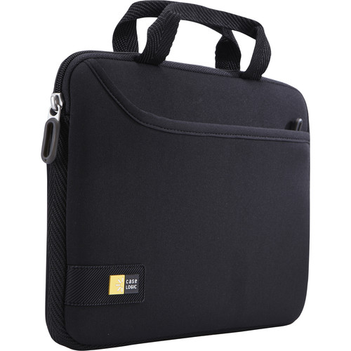 """Case Logic Attaché with Pocket for iPad or 10"""" Tablet (Black)"""