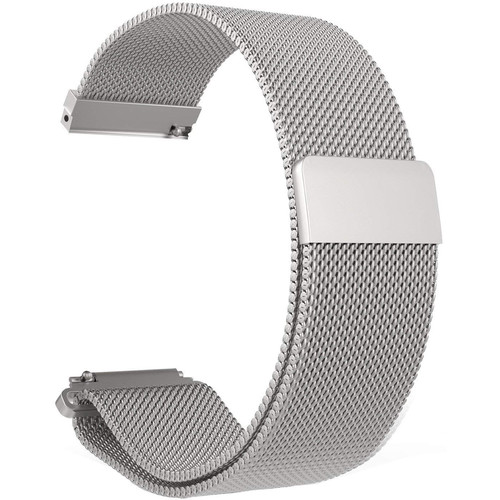 CASEPH Stainless Steel Mesh Band for Samsung Galaxy Watch Active2 (Silver)