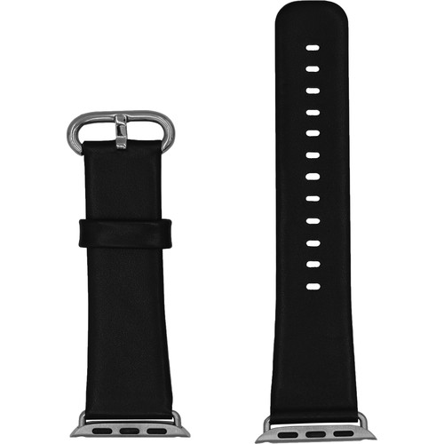 CASEPH Leather Band for 42mm/44mm Apple Watch (Black)