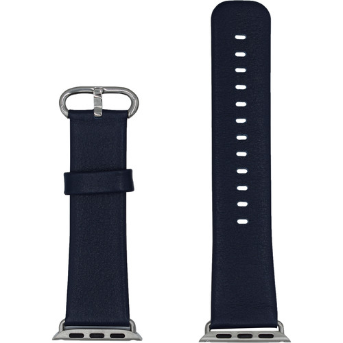CASEPH Leather Band for 42mm/44mm Apple Watch (Royal Blue)