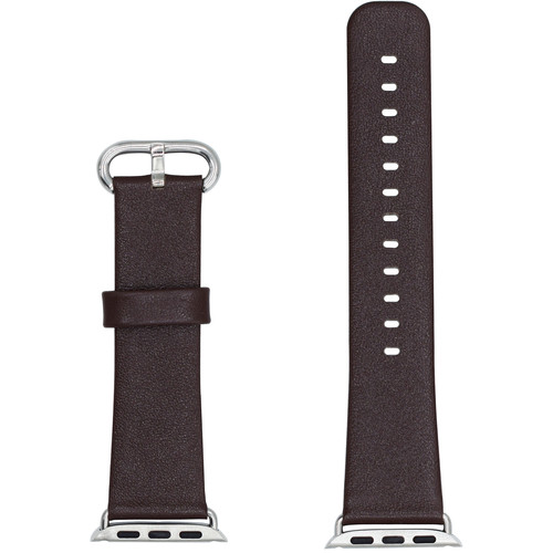 CASEPH Leather Band for 38mm/40mm Apple Watch (Rusty Brown)