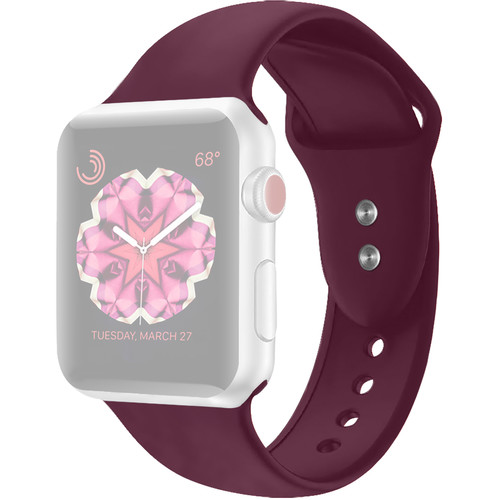 CASEPH Silicone Band for 42mm/44mm Apple Watch (Wine Red/Maroon)