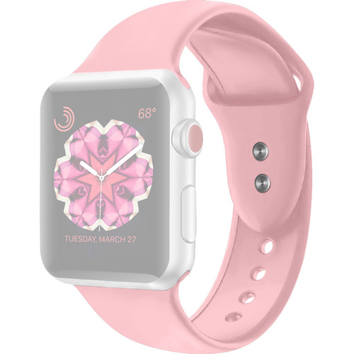 CASEPH Silicone Band for 42mm/44mm Apple Watch (Pink Sand)