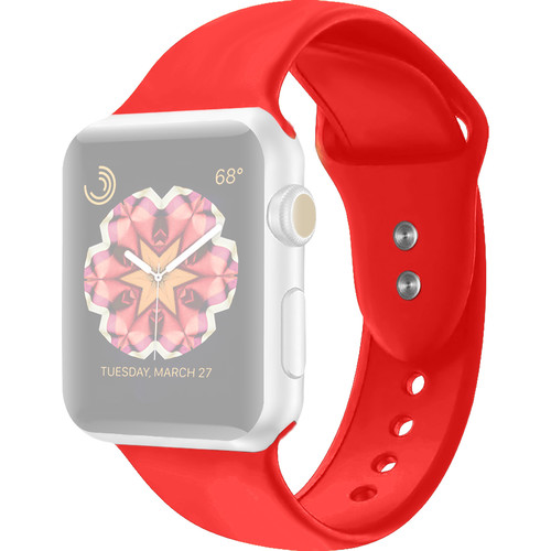 CASEPH Silicone Band for 42mm/44mm Apple Watch (Red)