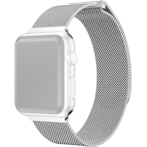 CASEPH Stainless Steel Mesh Band for 38mm/40mm Apple Watch (Silver)