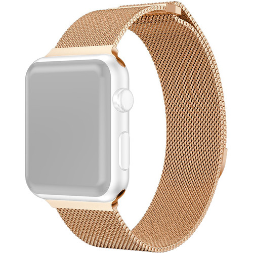 CASEPH Stainless Steel Mesh Band for 38mm/40mm Apple Watch (Rose Gold)