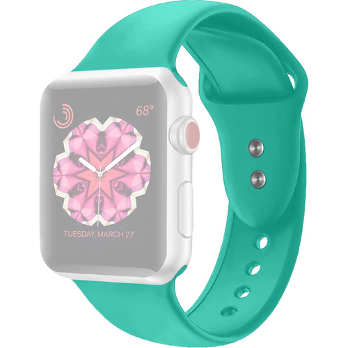 CASEPH Silicone Band for 42mm/44mm Apple Watch (Turquoise)
